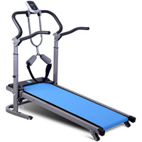 New Home Mechanical Treadmill with Safety Belt Foldable Mini Mute Treadmill Shock Absorption/Handrail Lifting Adjustment