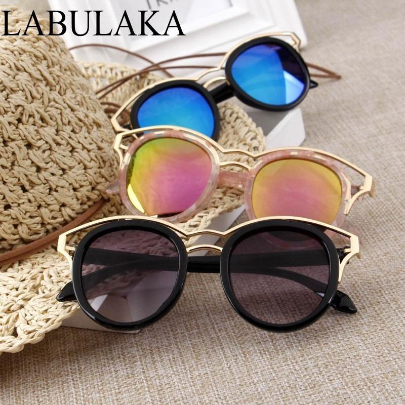 LABULAKA Alloy Children Glasses 2017 Korean Kids Sun glasses Girls Baby Cute Boys Goggles Summer Shades Round Metal Eyewear