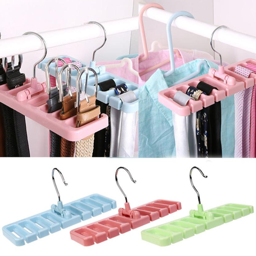 Storage Holder New Creative ABS Organizer For Clothes Belt Scarf Hanger Holders 18Apr24