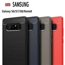 JOR Carbon Fiber for Samsung Galaxy S6 S7 edge Case Cover Capinhas Coque Fundas Case For Samsung Galaxy S8 Plus Note 8 Case