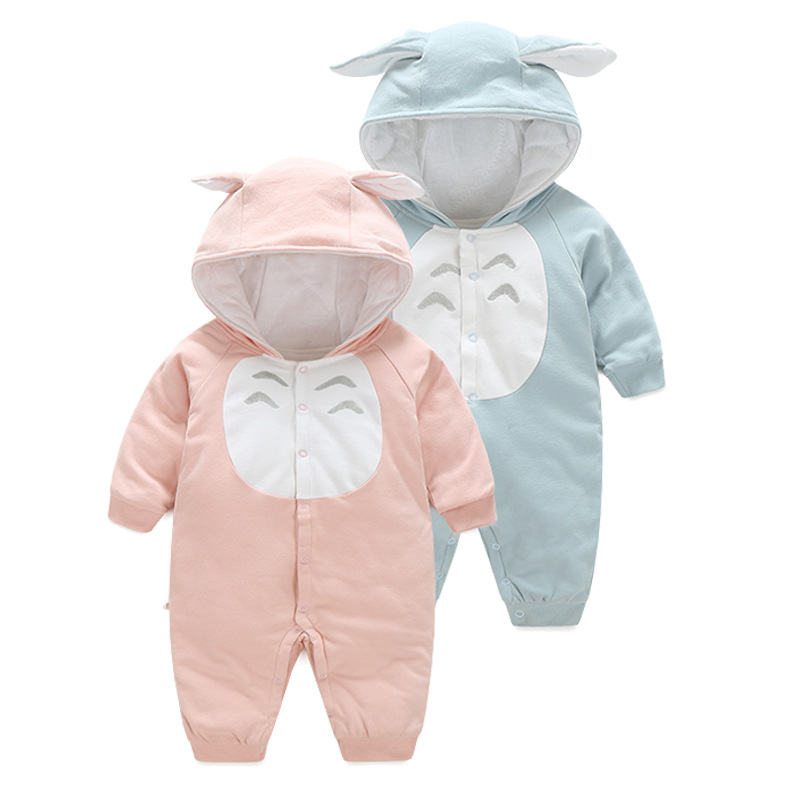 2017 spring autumn cotton Totoro jumpsuits Newborn Baby Clothes 3 colours Baby Boy Rompers warm Girl , soft Costume orangemom 2pcs set newborn floral baby girl clothes 2017 summer sleeveless cotton ruffles romper baby bodysuit headband outfits sunsuit