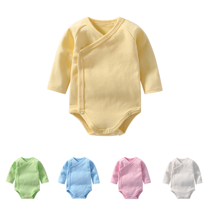 Beautiful Summer Baby Boy Girl Solid Single Breasted Bodysuit Infant Short Sleeve Jumpsuit Outfits Fashion Baby Bodysuits Commodities Are Available Without Restriction