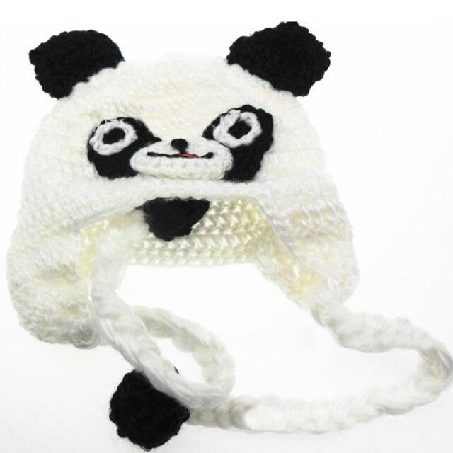 Mode Baby Kleinkind Kinder Panda Muster Gestrickte Häkelarbeit ...