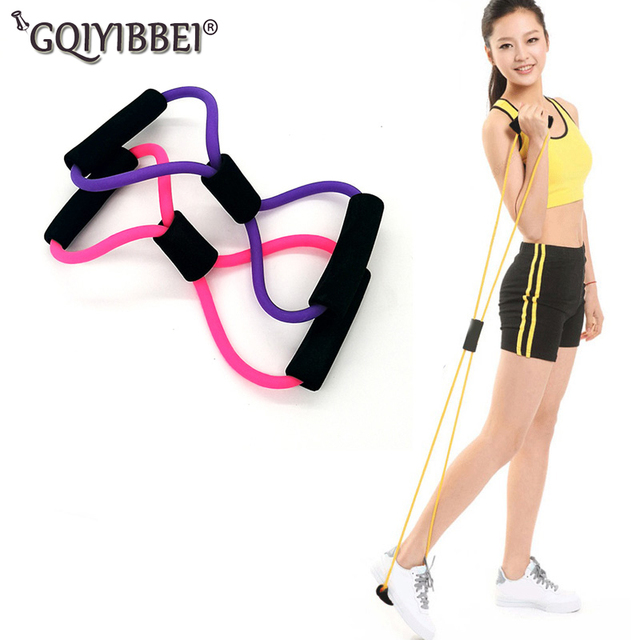 8 Word Chest Fitness Home Gym Rubber Loop Latex Resistance Exerciser Equipment
