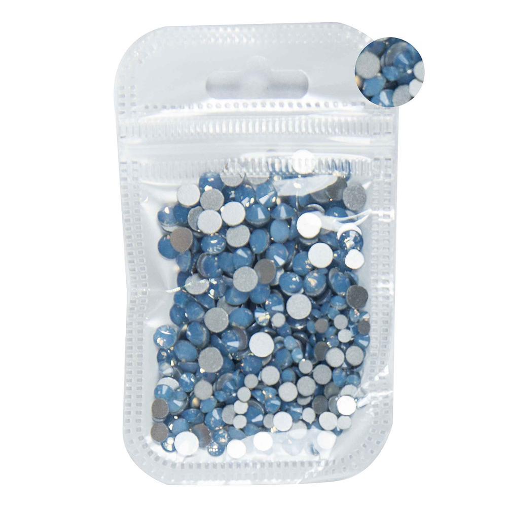 350 шт, 5 грамм, смешанные размеры, ss3-ss30, синий/зеленый/розовый/белый опал, 3D хрустальные стразы для дизайна ногтей, плоские с оборота стеклянные украшения для ногтей - Цвет: Blue Opal