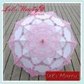 Vintage Pink and White Flower Lace Embroidery Umbrella Cotton Battenburg Wedding Bridal Umbrella Parasol Umbrella Decoration