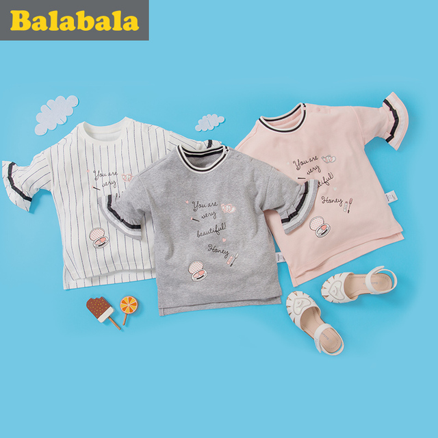 balabala 100% Cotton T Shirt Long Sleeve Spring Cartoon T shirts for Boys Girls Casual Tees Spring Autumn Children Kid Clothes