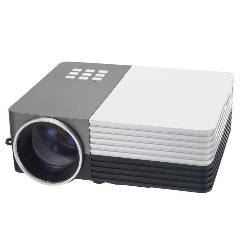 New gm50 1080p portable mini led vga 3d projector 150 for Usb projector reviews