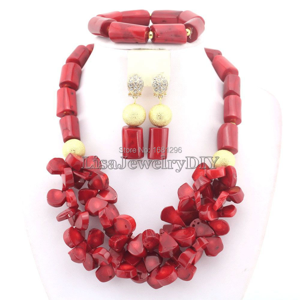 Incredibile!! African Wedding nigeriana Rosso Corallo Perline Gioielli Set Bridal Fashion Jewelry Set Spedizione Gratuita HD0477Incredibile!! African Wedding nigeriana Rosso Corallo Perline Gioielli Set Bridal Fashion Jewelry Set Spedizione Gratuita HD0477