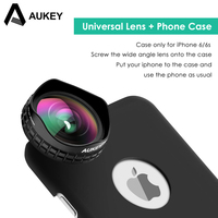 AUKEY Universal Camera Phone Lenses 18MM HD 0 67 X 110 Degree Wide Angle Clip On