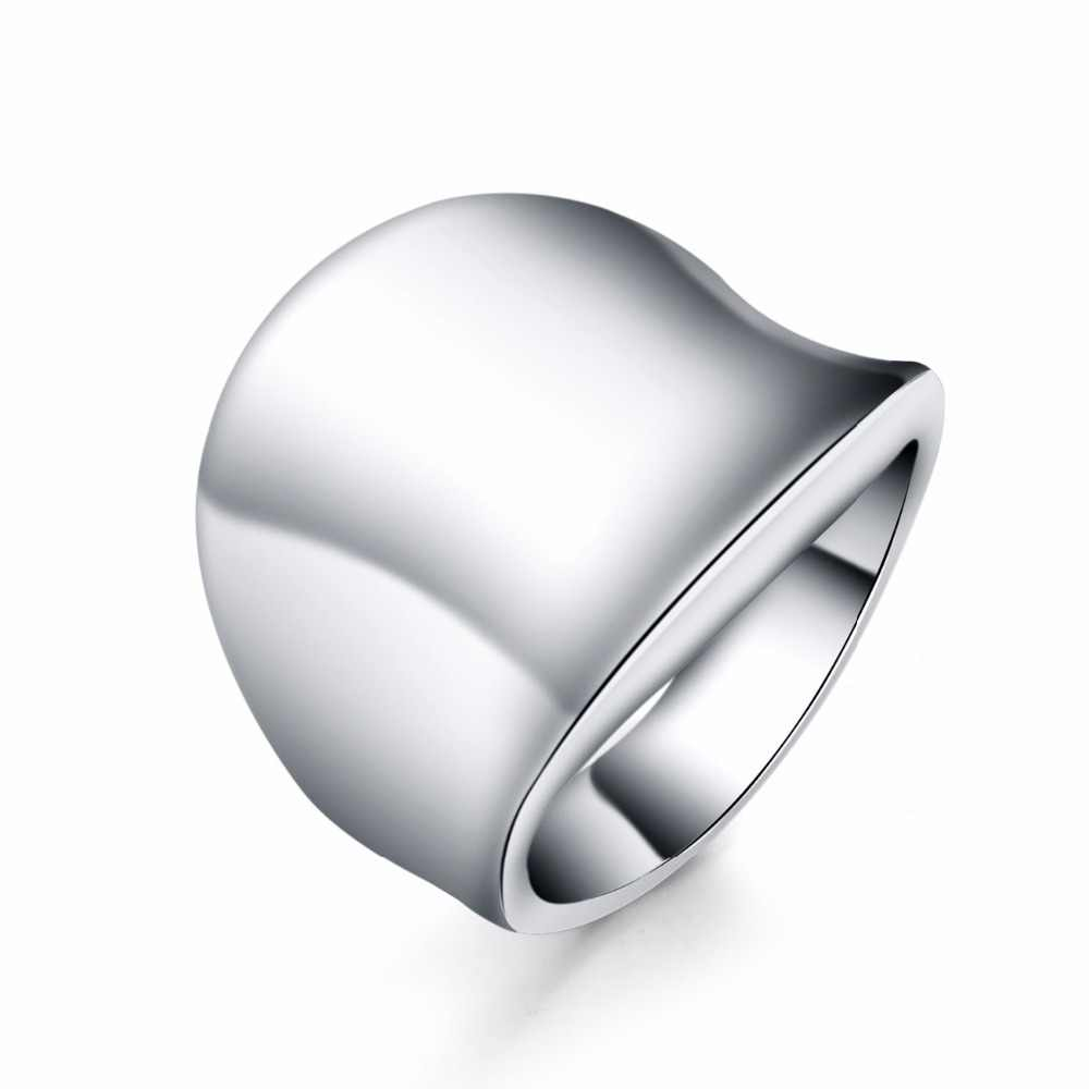 SIZE 7-10 Fashion nice women men elegant thumb ring round silver rings silver color classic Wedding jewelry R052