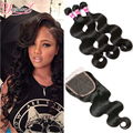 Malaysian Body Wave 3 Bundles Wth Closure Malaysian Virgin Hair With Closure Unprocessed Malaysian Body Wave With Lace Closure