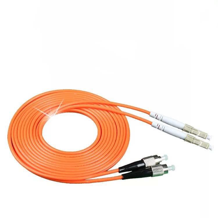 SC to LC fiber patch cord jumper cable multimode 62.5//125 OM1 duplex 5m length