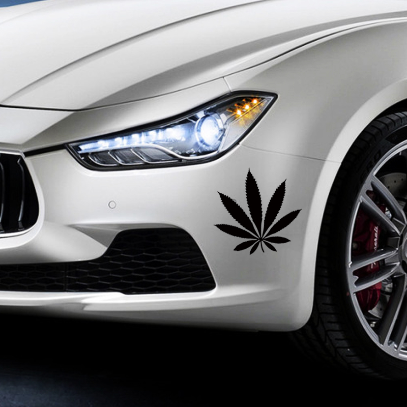 Hot Sale Car Stying For Weed Plant Leaf Car Decal Accessories Sticker Vinyl Decals Jdm