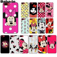Babaite minne Mouse negro de la cubierta del teléfono de Shell para Apple iPhone 7 6 6S Plus X XS X MAX 5 5S SE XR funda móvil(China)