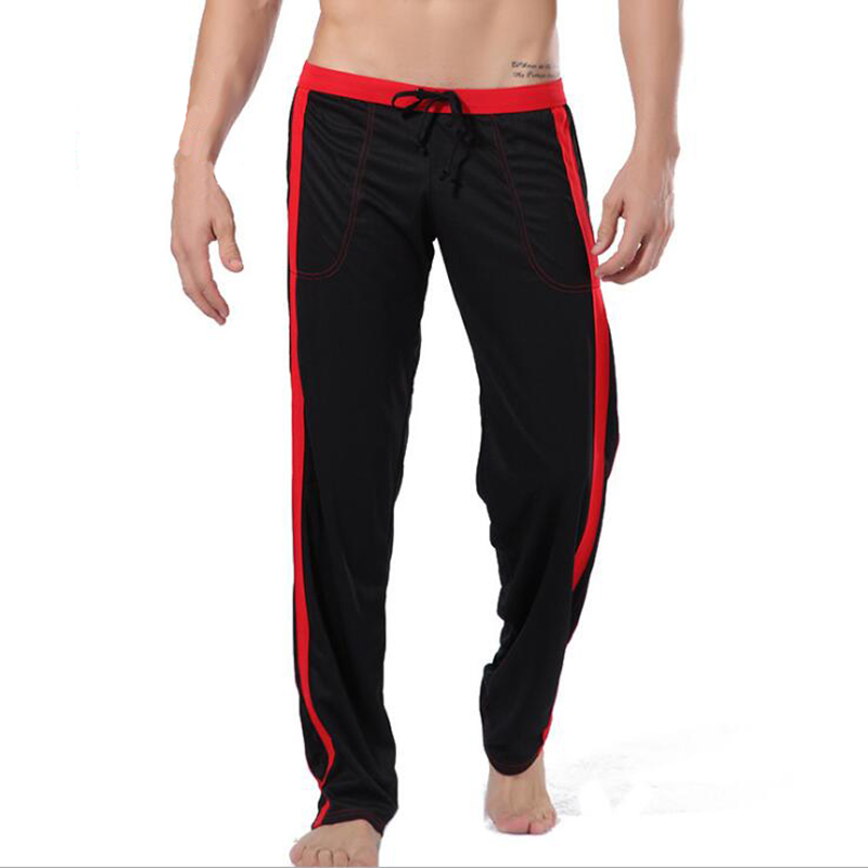 KWAN.Z Pajamas For Men Sleepwear Pajama Trousers Polyester Loose Pants Thermal Underwear Homme Pyjamas Home Pants Men Trouser