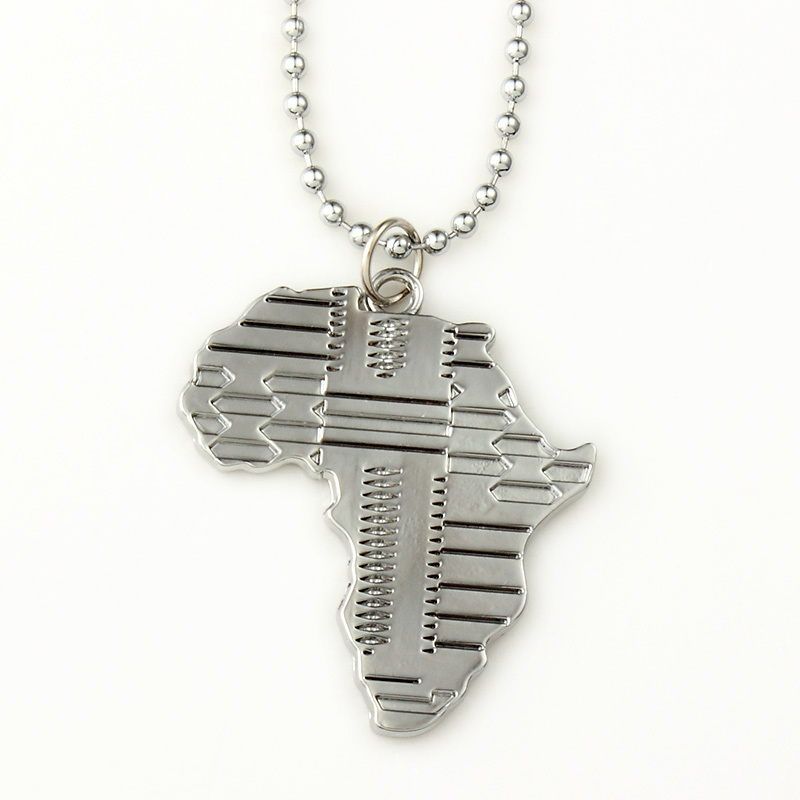 High quality africa map pendant necklace fashion accessories hip hop high quality africa map pendant necklace fashion accessories hip hop silver long alloy chain men jewelry bijouterie new 2014 in pendant necklaces from aloadofball Images
