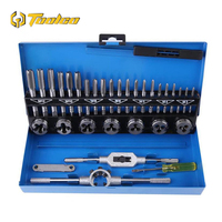 32pcs/Set Tap & Die Set Alloy Steel Durable Metric Tap Die Plug Drill Bits M3 M4 M5 M6 M8 M10 Hand Tools For Metalworking
