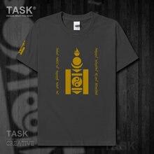 Mongole MNG Mongol element t-shirt manches courtes pour hommes, haut, vêtements en coton, été, or, ethnique, Souyongbu, nouveau 10