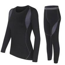 Termiczne zimowe ubrania dwuczęściowy zestaw kobiet Hot Dry Technology Surface Thermo zestaw damski topy i spodnie zestawy Conjuntos De Mujer
