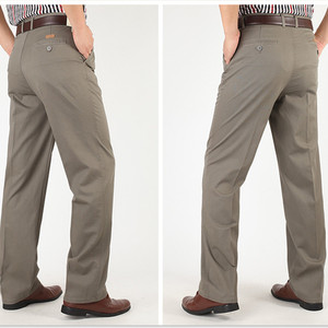 Image 5 - ชายกางเกงบางฤดูร้อนฝ้ายตรงกางเกงPlusขนาด 40 42 44 46 ธุรกิจHombre PantolonสีขาวBeigeสีเทาDarkกางเกงสีฟ้า
