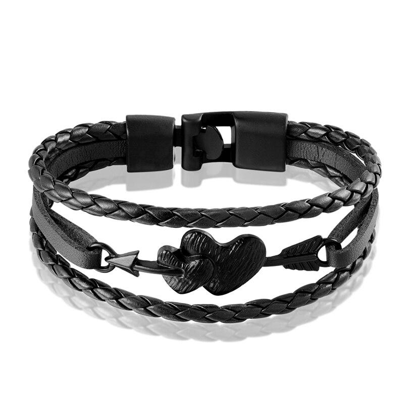 Купить новый уникальный модный двойной браслет janeyacy с сердцем мужской