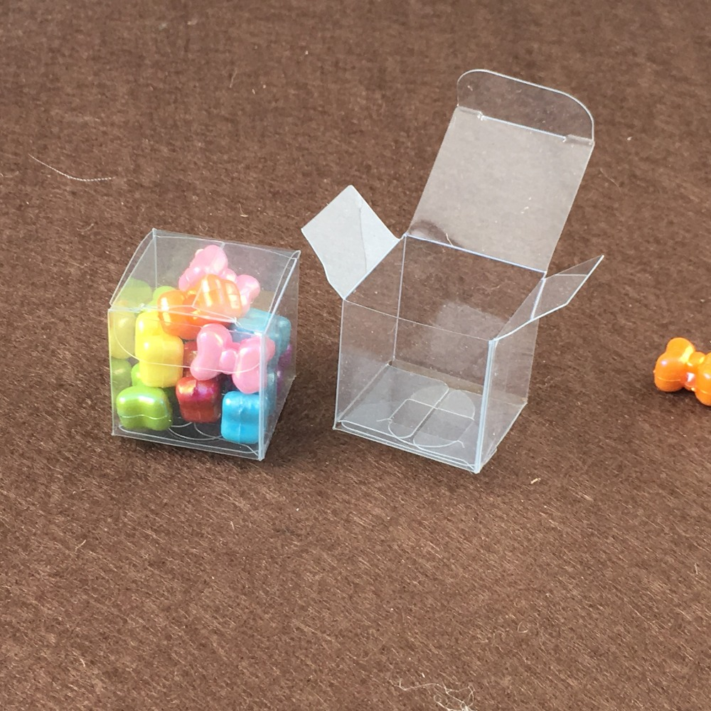 4*4*4cm100pcs Clear PVC boxes Cake Paper Box Cookie Container Food ...