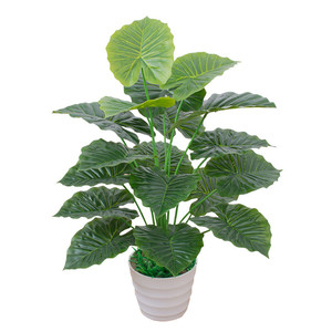 Image 5 - 60CM Artificial Real Touch Plant Monstera Tree without Pot, Fake Plant Tree Decoration For Home Garden