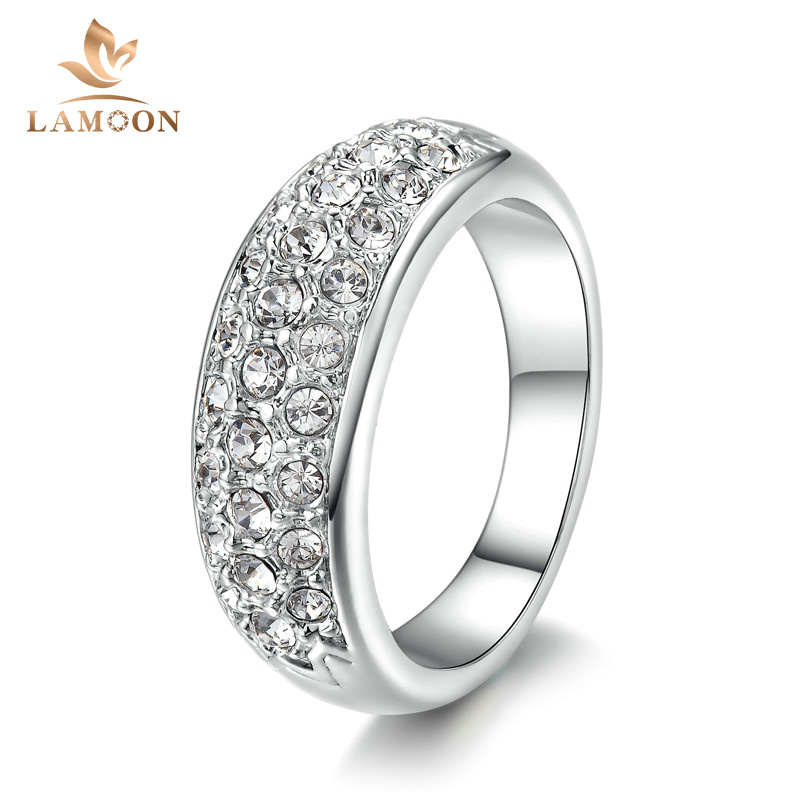 hot sell elegant platinum plated wedding ring italina austrian crystals fashion gift jewelry for women wholesale - Where To Sell Wedding Ring