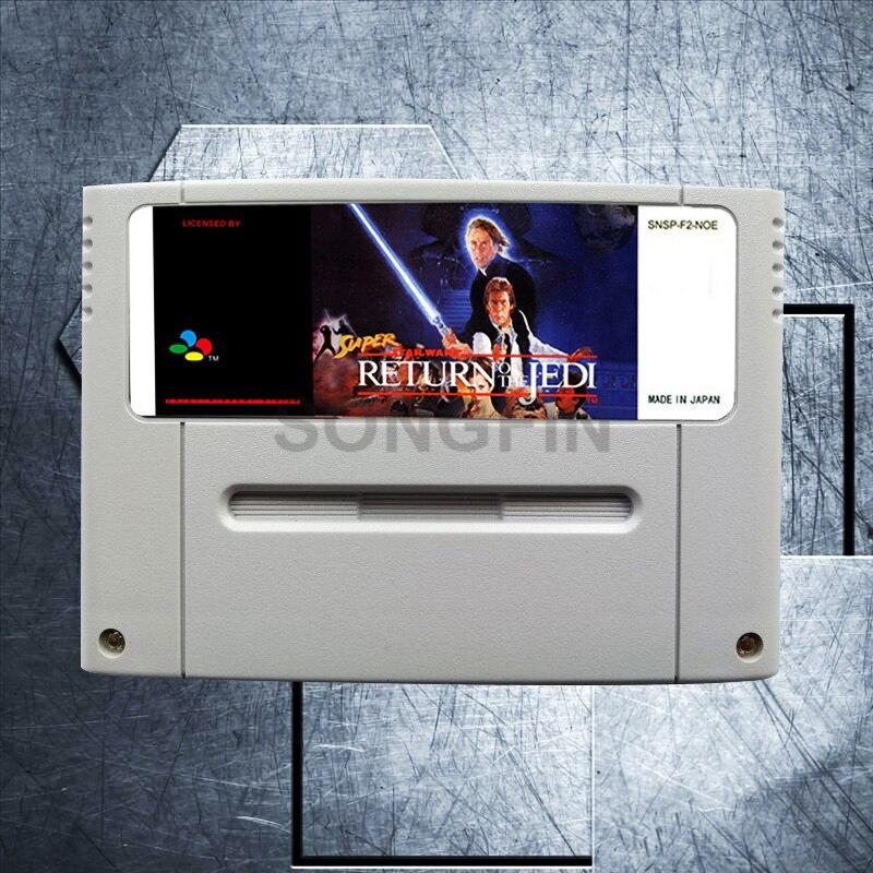 Return of the Jedi 16 Bit Big Gray Game Cartridge for PALEUR Version Game Console
