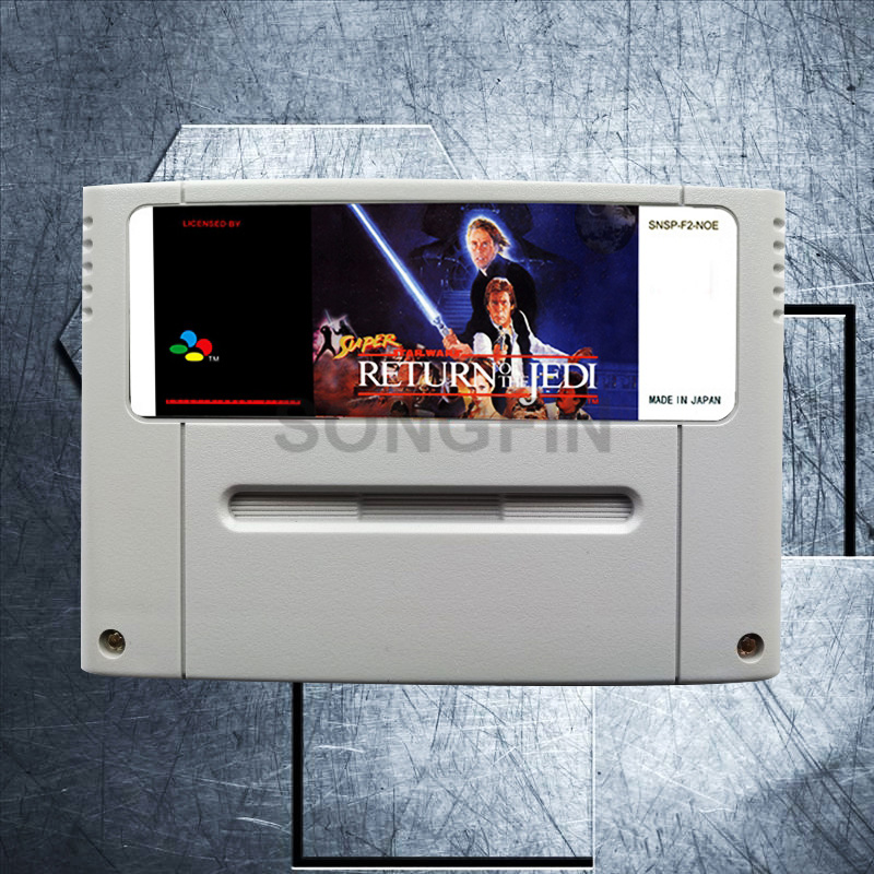 Return of the Jedi 16 Bit Big Gray Game Cartridge for PAL/EUR Version Game Console