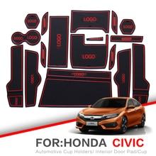 ZUNDUO For Honda Civic 2006 2019 8th 9th Gen Gate slot pad font b Interior b