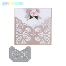 BM Lace Pocket paper Craft Die cut metal Cutting Dies Scrapbooking decorative Embossing Stencil Card make pattern Template