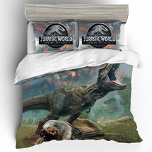 King Size 3D Printing Bedding Set Jurassic Park Printing Bedding Sets Duvet Cover Bed Sheets Pillowcases Bed Linen Home Textile 3d printing king size bedding sets how to train your dragon bedding set duvet cover bed sheet pillowcases bed linen home textile