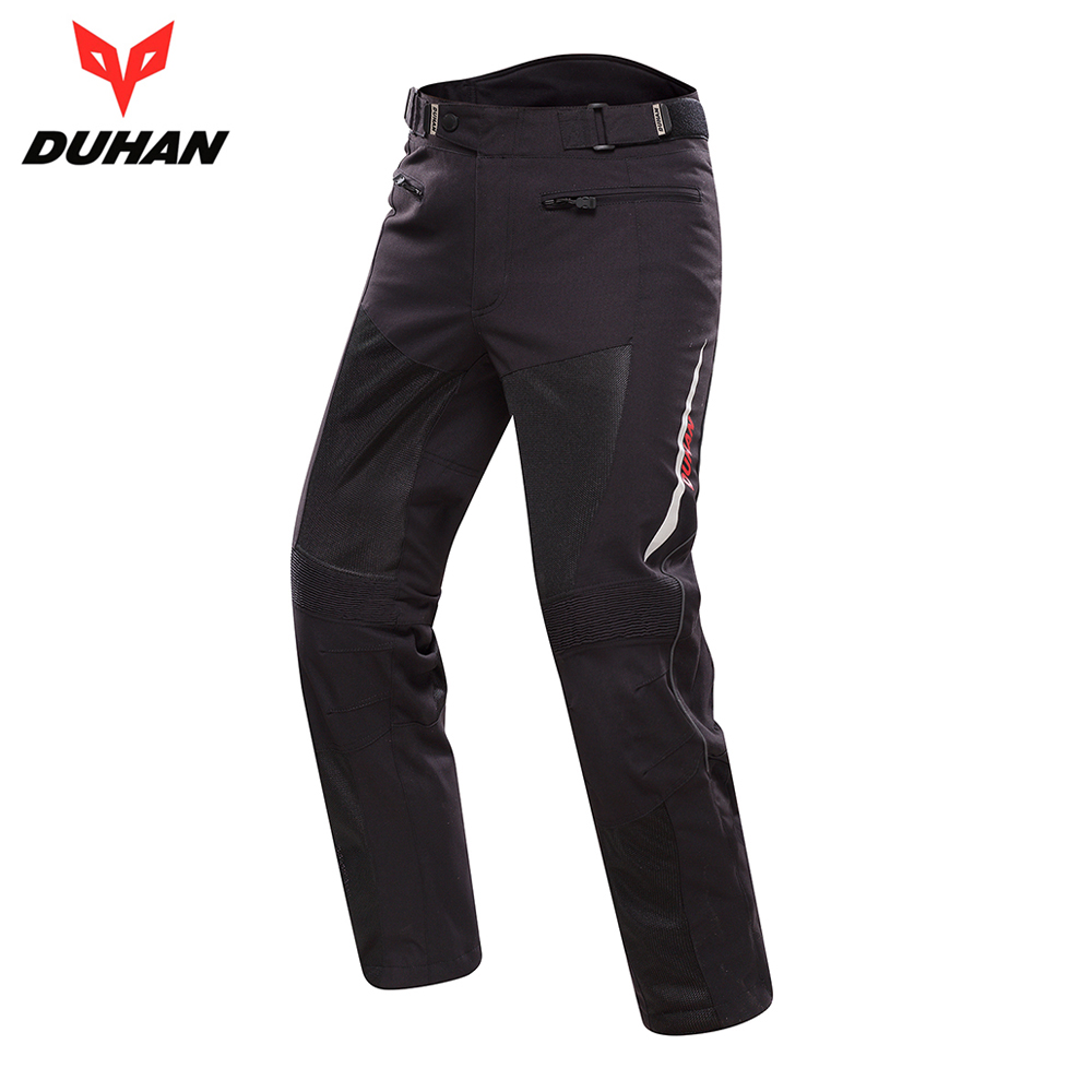 DUHAN Spring Summer Motorcycle Pants Men Breathable Mesh Moto Pants Trousers Protective Gear Riding Motorbike Motocross Pants new pxge mens sportswear short sleeve golf t shirt 3 colors golf clothes s xxl men jersey leisure golf shirt tops free shipping
