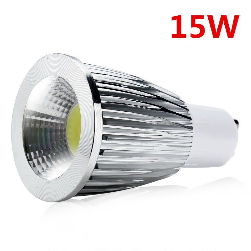 Super Bright 15W <font><b>GU10</b></font> <font><b>LED</b></font> Bulb Lights 110V 220V Dimmable <font><b>Led</b></font> <font><b>COB</b></font> Spotlights Warm/Cool White <font><b>GU10</b></font> <font><b>LED</b></font> lamp 10pcs
