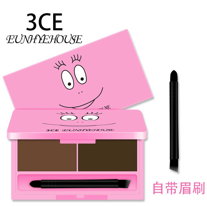 Hot selling3CE Baba daddy eyebrow powder eyebrow eyebrow beginners non eyebrow seal durable free shipping