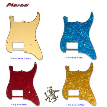 Pleroo Custom Guitar Parts - For USA/ Mexico 11 holes Strat spec Blank Pickguard With bridge PAF Humbucker Scratch Plate pleroo guitar pickguard for us 11 screw holes stratocaster with floyd rose tremolo bridge paf humbucker single hss scratch plate