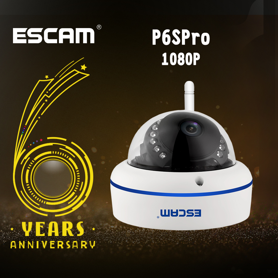 ESCAM Speed QD800WIFI 2.0MP ONVIF FHD 1080P P2P Private Cloud Waterproof Security WiFi IP Camera