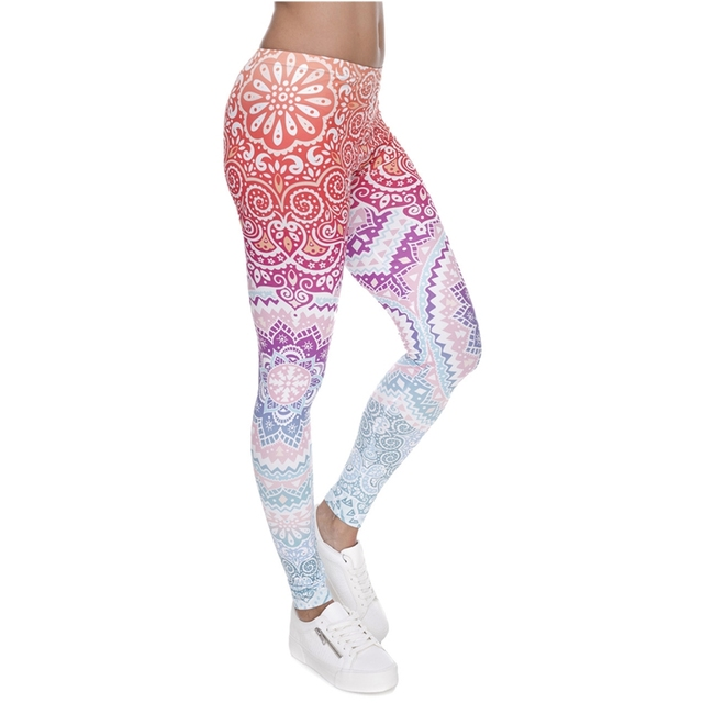 Classic 3D Print Aztec Ombre Leggings Women Causal Jeggings Sexy Leggins Tayt Fitness Legging Calzas Mujer Soft Legins Girls