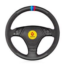 Braid on the Steering Wheel Cover for BMW E36 E46 E39 funda volante leather steering wheel case suede leather steering wheel cover for bmw e70 x5 2008 2013 e71 x6 2008 2014 braid on the steering wheel capa para volante