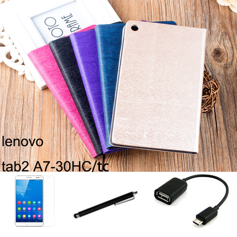 "For Lenovo tab2 A7 A7-30 A7-30HC A7-30TC case 7"" Tablet PC dormancy protective Leather Case Protective Shell/Skin"