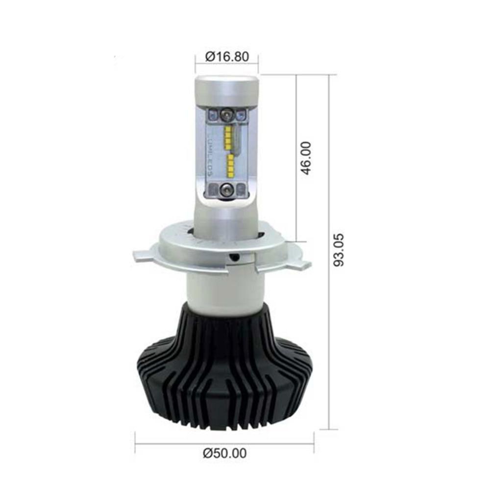 Auto H4 Cahaya H7 Led H11 H3 H1 9005 9006 ZES Chip Mobil LED - Lampu mobil - Foto 4