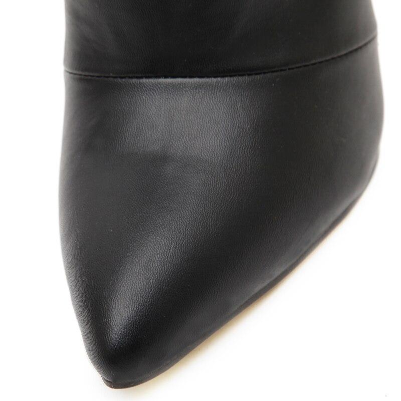 Belle vertraglich stil einfarbig schwarz frauen rot hochzeit schuhe - Damenschuhe - Foto 6