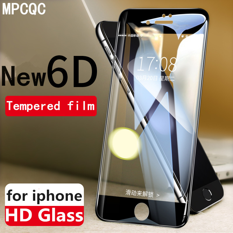 MPCQC 6D Protective Glass for iPhone 7 Screen Protector iPhone 8 Xr Xs Xs Max Tempered Glass on iPhone X 6 6s 7 8 Plus Xs Glass