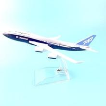 Boeing modelo de aviones de 16 cm para niños, modelo de simulación de aleación, juguete para regalo de Navidad, 747
