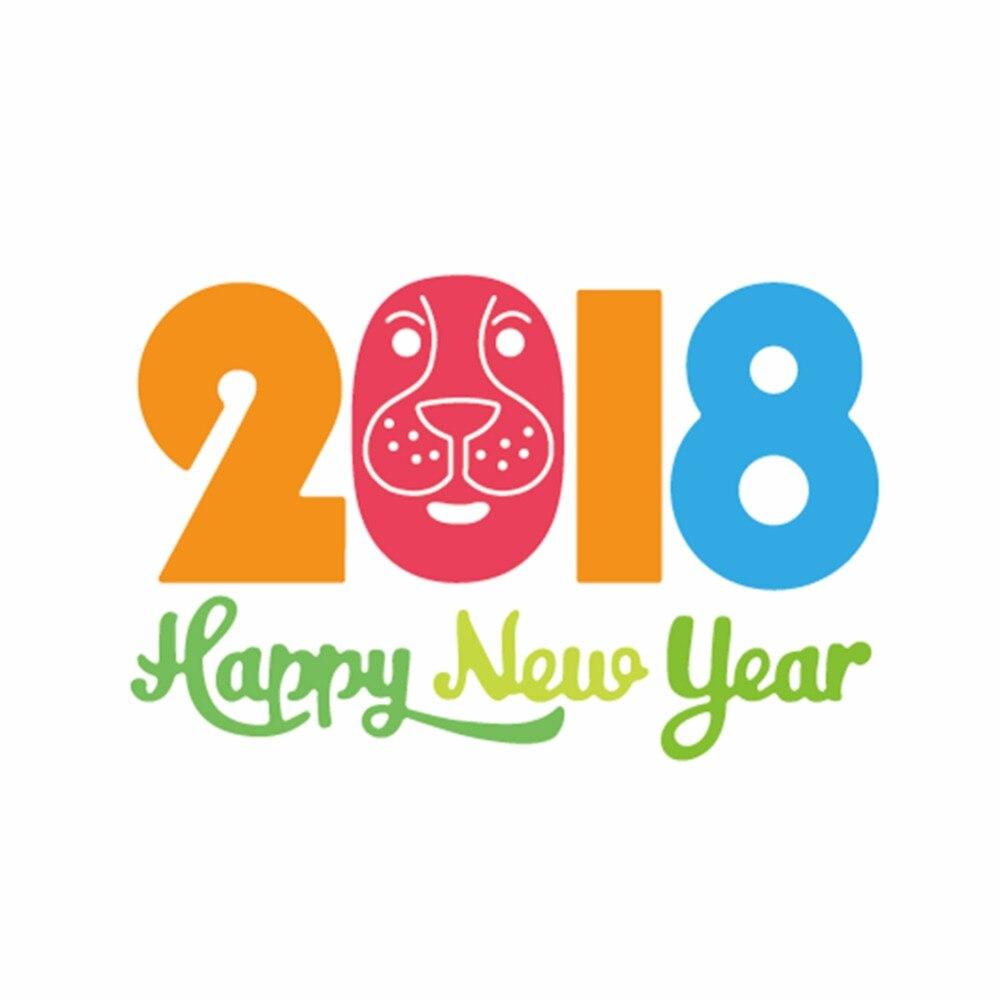 Adv-one Metal Cutting Dies 2018 Happy New Year Word Dies Cut DIY Embossing Scrapbooking Craft Create Stamps Paper Card Stencil