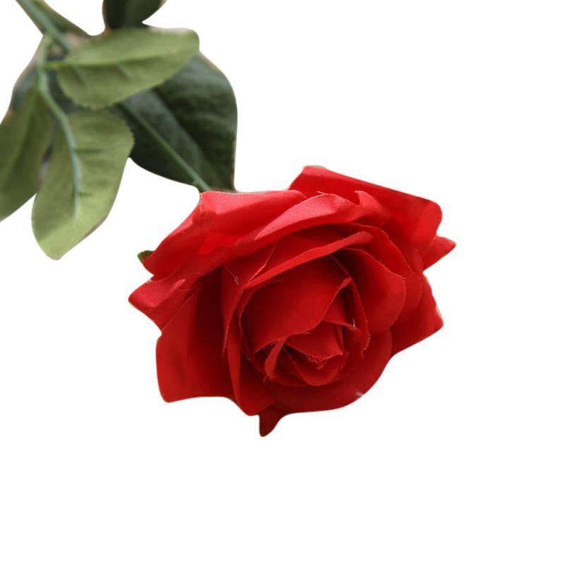 1PC Rose kunstlik lilled võltsitud lilled siidist lilled õie lateks - Pühad ja peod - Foto 1
