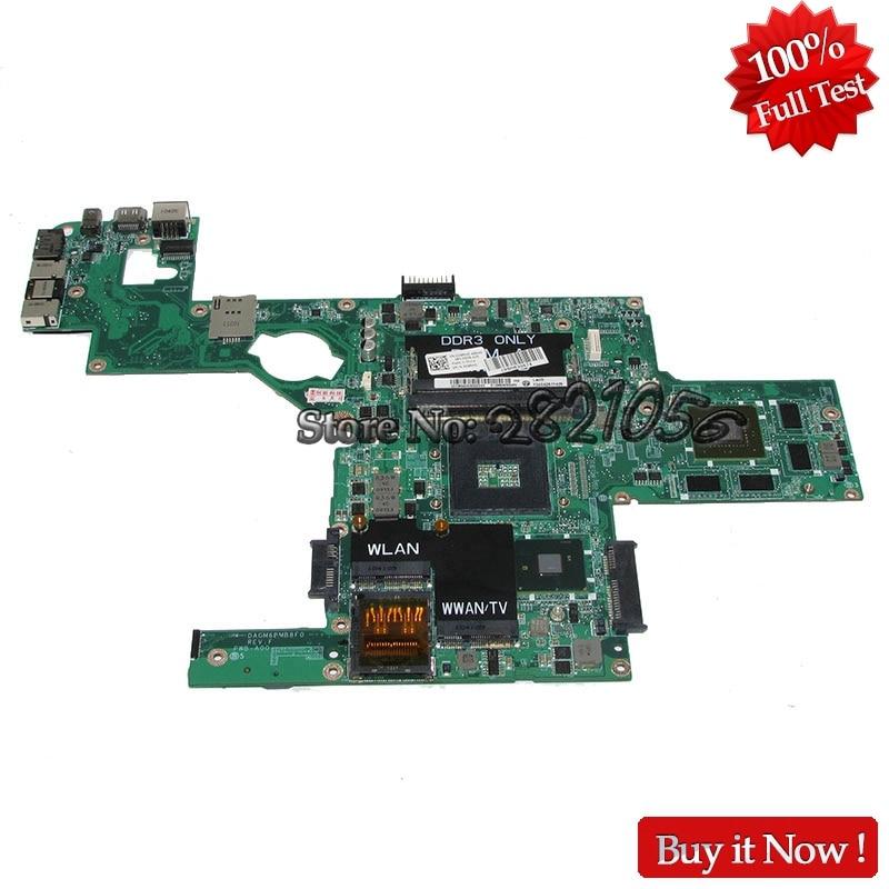 NOKOTION Laptop Motherboard DAGM6BMB8F0 CN-0C9RHD 0C9RHD For Dell XPS 15 L501X Mainboard HM57 DDR3 GT420M Tested nokotion mainboard cn 0ctk0w ctk0w daum7bmb6e0 for dell inspiron n3010 laptop motherboard hm57 hd4500 ddr3 tested