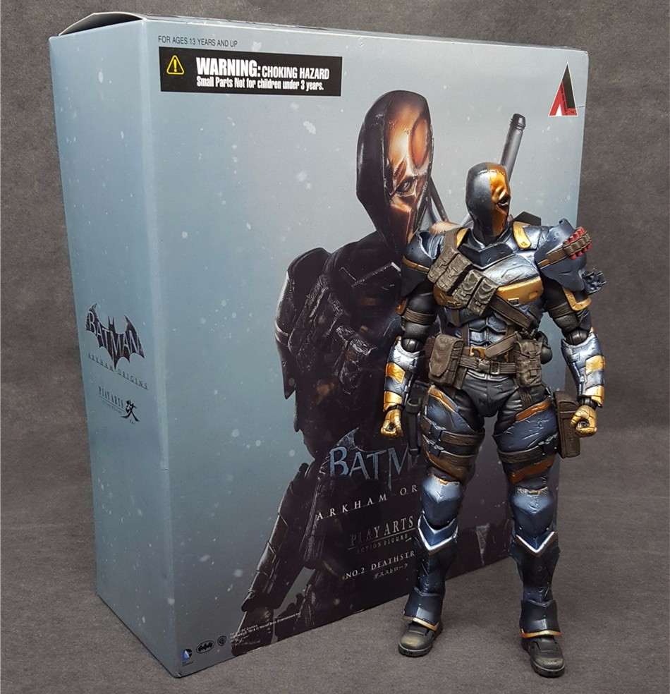 где купить SAINTGI Batman v Superman Dawn Justice Arkham Knight Deathstroke Kai Terminator PVC 27CM Action Model Kids Toy play arts по лучшей цене